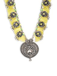 Cara Al Medallion Necklace Silver