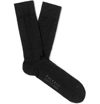 Falke Sensitive London Stretch Cotton Blend Socks Charcoal