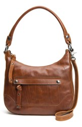 Frye Small Melissa Leather Hobo Bag Brown Cognac