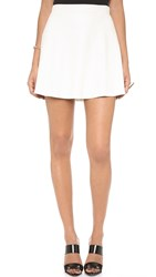 David Lerner Perforated New Bowery Skirt White