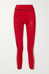 Fendi Karligraphy Printed Stretch Leggings Red