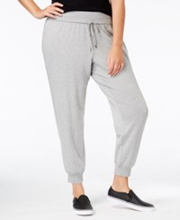 Ideology Plus Size Jogger Pants Only At Macy's Heather Gray