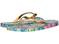 Lilly Pulitzer Pool Flip Flop Bennet Blue Slide Shoes