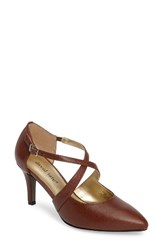 David Tate Women's Jojo Crisscross Pump Cognac Leather