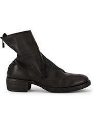 Guidi Rear Zipped Boots Black