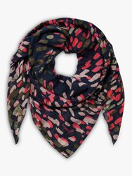 Joules Atmore Square Cotton Scarf Navy Mix