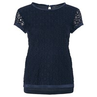 Marella Lace T Shirt Navy