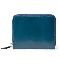 Il Bussetto Polished Leather Zip Around Wallet Blue
