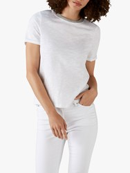 Pure Collection Soft Cotton Jersey T Shirt White Grey
