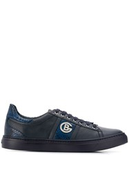 Baldinini Snakeskin Panel Lace Up Shoes Blue