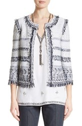 St. John Women's Collection Tajdar Fringe Tweed Jacket