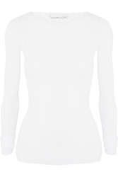 Agnona Plissa Cotton Jersey Top