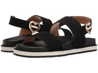 Love Moschino Metal Heart Buckle Sandal Black Women's Shoes