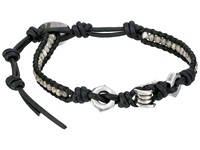 Chan Luu 6' Antique Silver Natural Black Single Antique Silver Natural Black Bracelet Blue