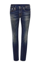 R 13 R13 Kate Low Rise Skinny Jeans Blue