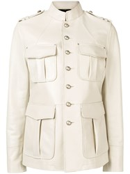 Saint Laurent Military Styled Jacket Neutrals