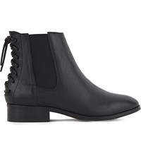 Aldo Boudinot Leather Chelsea Boots Black Leather