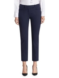 Saks Fifth Avenue Stretch Cotton Trouser Navy Black