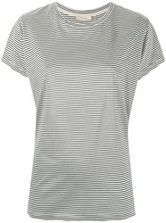 Wunderkind Striped T Shirt Women Silk S White