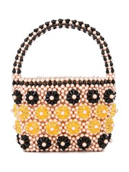 Shrimps Beaded Floral Tote Pink