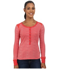 Kuhl Mia Thermal Paprika Women's Long Sleeve Pullover Red