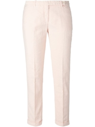 Aspesi Cropped Trousers Pink And Purple