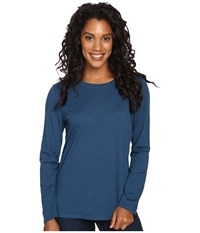 Royal Robbins Go Everywhere Merino Crew Phoenix Blue Women's Long Sleeve Pullover