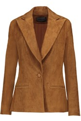 Cushnie Et Ochs Stretch Suede Blazer Light Brown