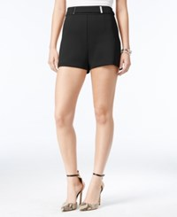 Guess Tetiana Hardware Detail Shorts Jet Black