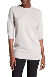 Vince Elbow Sleeve Cashmere Sweater Beige