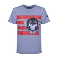 Kloters Milano T Shirt Monkey Usa Grey