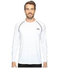 Tyr Long Sleeve Rashguard White Men's Swimwear