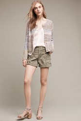 Anthropologie Katie Roll Up Shorts Moss