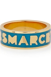 Marc By Marc Jacobs Gold Tone And Enamel Ring