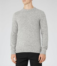 Reiss Horton Mens Twisted Yarn Jumper In Grey