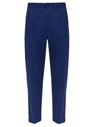 Saturdays Nyc Varrick Cotton Trousers Blue