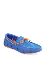Swims Braided Lace Up Loafers Blue