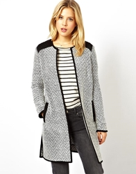 Asos Light Weight Coat With Quilted Shoulder