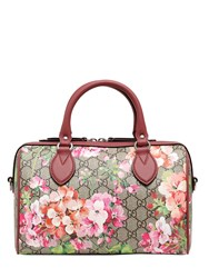 Gucci Blooms Print Gg Supreme Top Handle Bag
