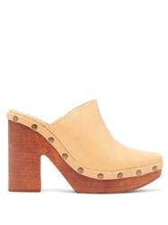 Jacquemus Sabots Leather Clog Mules Cream