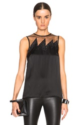Christopher Kane Tank Top With Glitter Lightning In Black