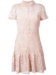 Red Valentino Macrame Mini Dress Pink Purple