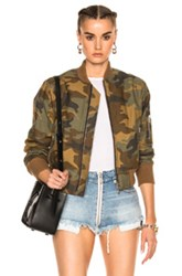 Amiri Bomber In Abstract Brown Green Neutrals Abstract Brown Green Neutrals