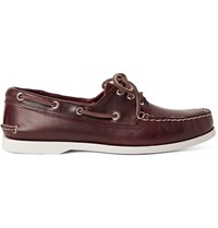 Quoddy Downeast Leather Boat Shoes Brown