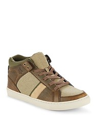 Original Penguin Spector Lace Up Sneakers Brown Olive