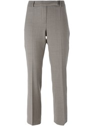 Hache Slim Fit Cropped Trousers Brown