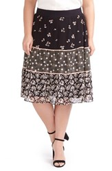 Addition Elle Love And Legend Plus Size Women's Tiered Floral Skirt