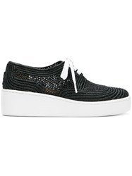 Robert Clergerie Taille Woven Sneakers Black