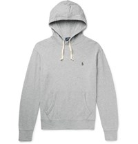 Polo Ralph Lauren Loopback Cotton Jersey Hoodie Gray