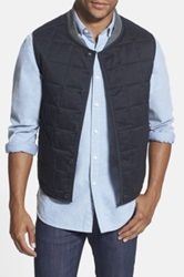 Wallin And Bros Trim Fit Quilted Vest Black